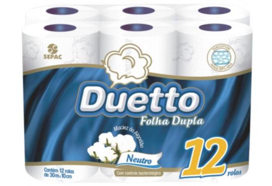 PAPEL HIG. DUETTO F. DUPLA C/ 12X30 MT NEUTRO