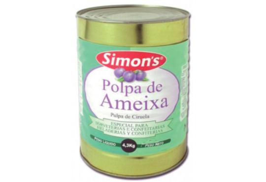 POLPA FRUTA SIMONS AMEIXA 4,3KG