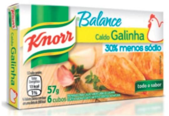 CALDO KNORR GALINHA MENOS SÓDIO 57GR