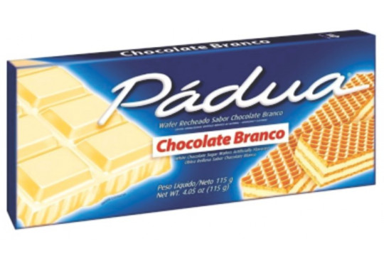 LANCHE WAFER PÁDUA CHOC BRANCO 100GR