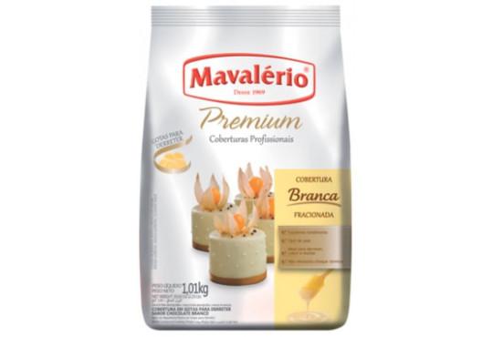 CHOC. COB. GOTAS MAVALERIO BRANCO 1.01KG