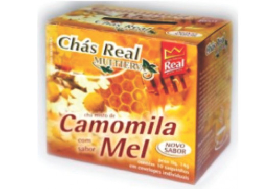 CHÁ MATE REAL CAMOMILA E MEL C/ 10