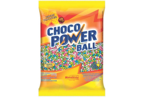 CHOC. POWER BALL COLOR MAVALERIO PEQ. 500GR