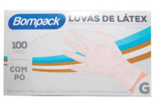 LUVA LATEX BOMPACK PROCEDIMENTO G C/ 100
