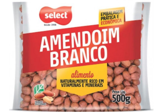 AMENDOIM SELECT BRANCO 500GR