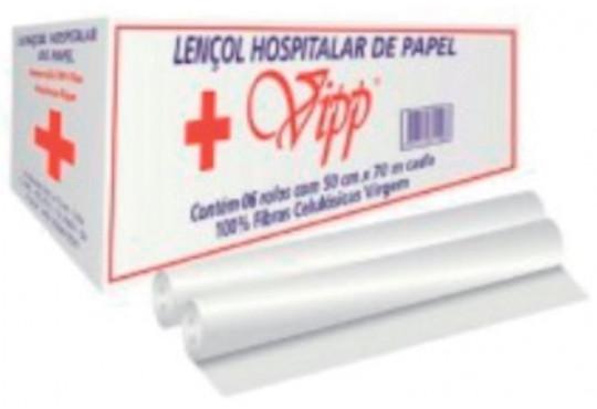 PAPEL HIG. LENÇO HOSPITALAR VIPP 7O CM C/ 6X50 MTS